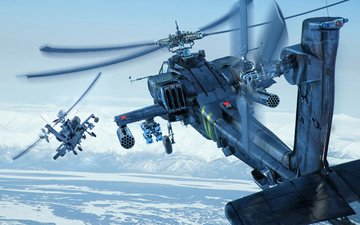 the sky, combat, boeing, helicopters, shock, longbow, ah-64d, apache
