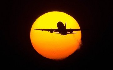 the sun, the plane, flight