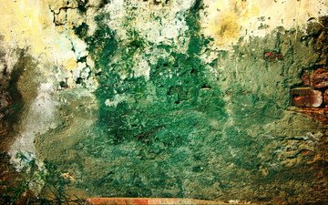 узор, стена, кирпич, завод, гранж, грязный, грин
