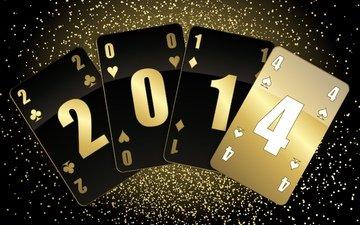 новый год, фон, карты, масти, 2014 год