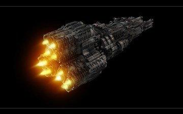 space, ship, cosmos