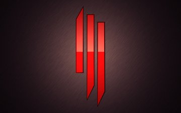 музыка, красный, краcный, skrillex, дабстеп, skrillex логотип, музыкa