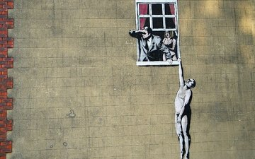 the situation, banksy, graffiti