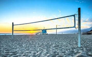 beach, mesh, volleyball