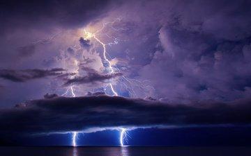 clouds, zipper, storm