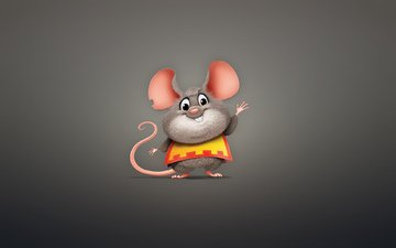 minimalism, mouse, animal, rodent, chubby