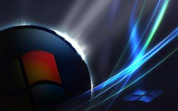 логотип, объем, компьютер, эмблема, операционная система, винда