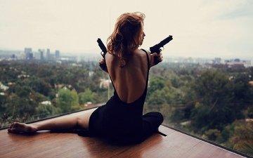 пистолеты, sit, в платье, gевочка