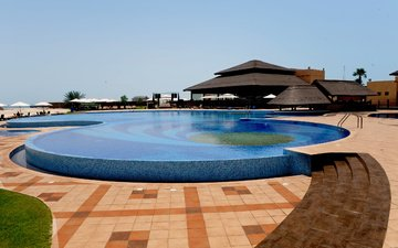 interior, beach, cafe, bar, sun loungers, pool, exterior