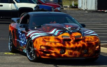 car, tuning, drives, sports car, airbrushing, pontiac trans am