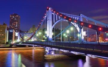 мост, япония, мегаполис, японии, токио, столица