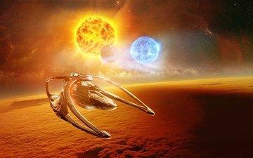 the sun, space, sun, andromeda, ascendant, ascendent