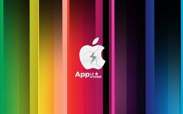 буря, яблоко, эппл