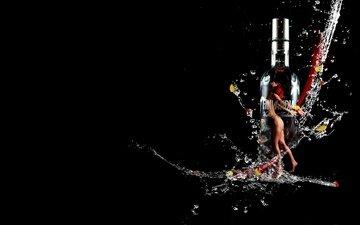 the dark background, vodka, brand, finland