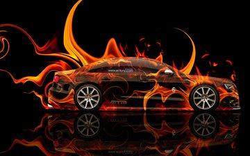абстракт, апельсин, автомобиль, ауди, тюнинг, блака, битурбо, s8, огненная, mtm, el tony car