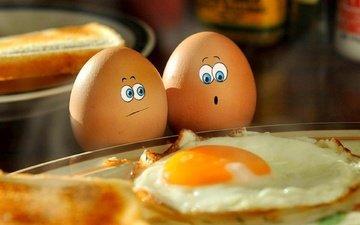 яйца, печаль, ужас, яичница