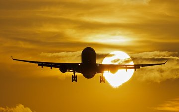 the sun, the plane, airbus, a330, passenger