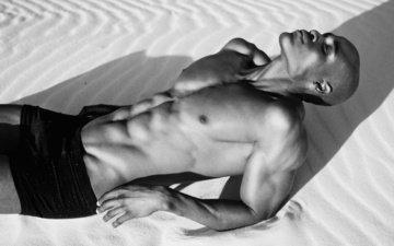 парень, мужчина, тело, пресс, мускулы