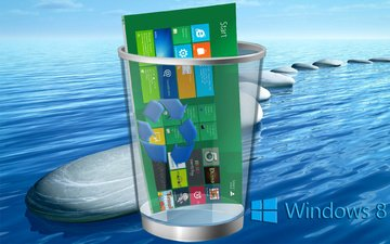 stones, sea, computer, 8, operating system, windows