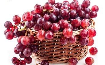 виноград, красный, корзина, берри, краcный, raceme