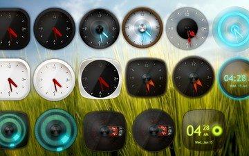 виджеты, скины, xwidget, xw analog clock