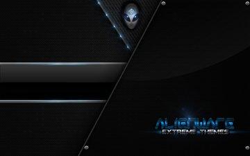 голубая, екстрим, alienware