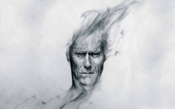 art, peer, head, clint eastwood