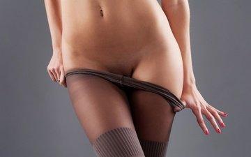 macro, tights, close-up, navel