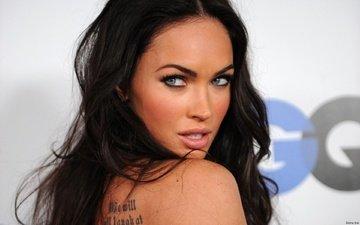 глаза, брюнетка, взгляд, модель, меган фокс, губы, актриса, красотка, сексапильная