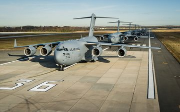 aircraft, the airfield, c-17 globemaster iii