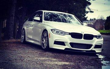 белый, автомобиль, бмв