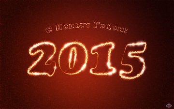 новый год, праздник, красный фон
