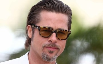 brad pitt in grandma's glasses