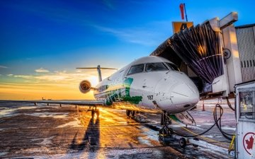 a large passenger plane