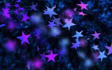 снежинки, звезды, пятна, точки