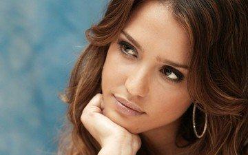 глаза, девушка, взгляд, модель, актриса, красотка, джесика альба, сексапильная