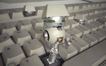клавиатура, роботы, клавиши, клава