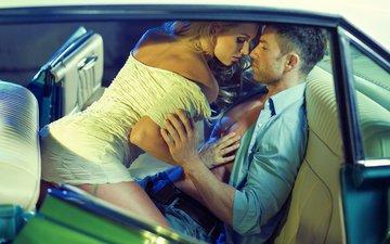 машина, любовь, мужчина, женщина, влюбленные