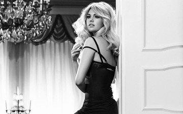 глаза, девушка, блондинка, взгляд, модель, красотка, сексапильная