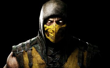 mask, the game, costume, mortal kombat, scorpio, game