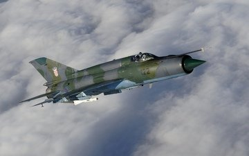 the plane, fighter, multipurpose, soviet, the mig-21