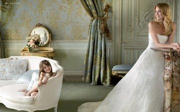 платье, улыбка, модель, комната, свадьба, праздник, невеста, подружка, линдсей эллингсон