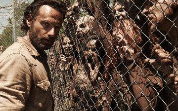zombies, prison, the walking dead, rick