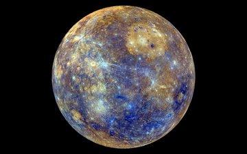 planet, mercury, craters, celestial body