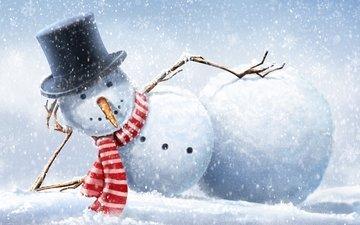 снеговик, прикольный