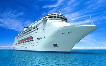 вода, море, корабль, отдых, транспорт