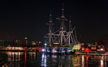 корабли, нидерланды, амстердам, парусники
