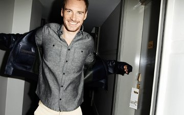 smile, actor, male, michael fassbender