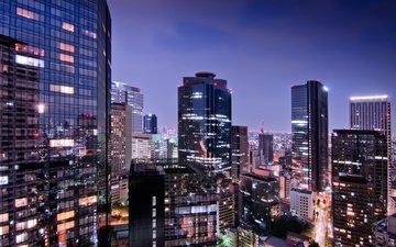 огни, япония, мегаполис, японии, токио, столица