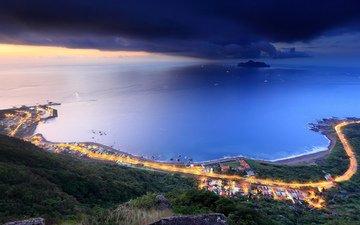 город, океан, тайвань, бухта, taipei county, tw